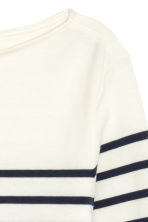 Boat-neck top - White/Striped - Ladies | H&M CN 3